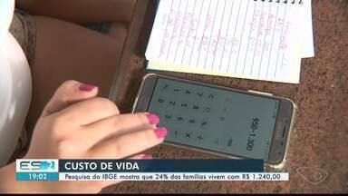 Pesquisa do IBGE revela que 24% das famílias vive com menos de R$ 1.240 - Especialista diz que é importante ter planejamento familiar.