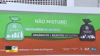 SLU anuncia mudanças na coleta de lixo e promete fiscalização e coleta seletiva - SLU prometeu que coleta seletiva deve estar em todo DF em até seis meses. Cronograma de coleta também foi alterado para dias alternados.