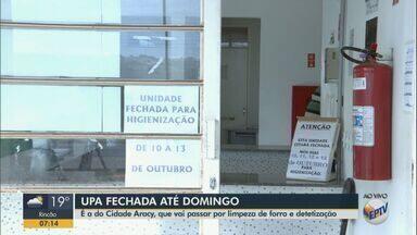 Obras fecham UPA do Cidade Aracy por 4 dias em São Carlos - Unidade reabre na próxima segunda-feira.