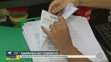Vendas para as festas de fim de ano começam a movimentar comércio de Ribeirão Preto - Lojas e supermercados da cidade já começaram a vender mais e com isso, aumentaram as contratações.