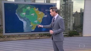 Chuva diminui no Rio de Janeiro e aumenta em áreas do Norte e do Centro-oeste - Centro-sul de Minas Gerais também está na rota dos temporais