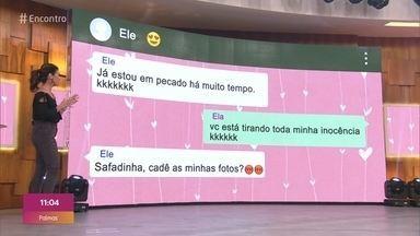 Professor de 52 anos é suspeito de assediar aluna de 12 - Mãe da adolescente encontrou troca de mensagens no celular da filha e registrou queixa na cidade de Ariranha, no interior de São Paulo. Na novela 'A Dona do Pedaço', a personagem de Mel Maia é abordada por pedófilo e consegue fugir