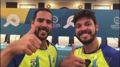 Atletas santistas embarcam para o Catar, onde disputarão os Jogos Mundiais de Praia - Marcus Vinícius Ferreira e Thales Santos competirão no beach tennis.
