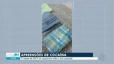 Apreensões de cocaína aumentam em MS - Nove meses de 2019 já superaram todo o ano passado