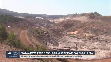 Copam analisa licença para Samarco voltar a minerar em Mariana 4 anos após tragédia - Em novembro de 2015, a barragem de Fundão se rompeu causando um dos maiores desastres socioambientais do país; mineradora diz que não vai usar barragem de rejeitos no local.