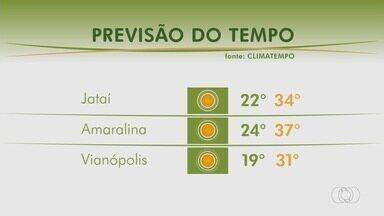Veja como fica o tempo em Jataí e Vianópolis - Confira a previsão do tempo.