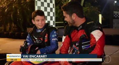 'Vai Encarar?': Desafio com piloto de kart mirim - Atividade especial pelo Dia das Crianças.