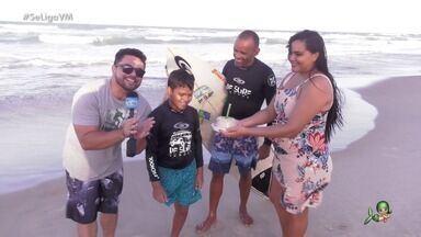 História de superação de Juan Yure através do surfe com o projeto A Maré Vida - Daniel Viana conhece a criança que teve perna amputada por causa do câncer e desafiou as probabilidades para surfar