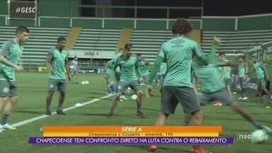 Chapecoense se prepara para enfrentar o Cruzeiro pela Série A - Chapecoense se prepara para enfrentar o Cruzeiro pela Série A