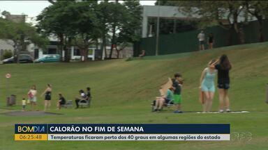 Chuva chega ao Paraná nesta segunda-feira (14) - No fim de semana temperaturas ficaram altas em todas as regiões.