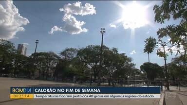 Temperaturas ficam perto dos 40 graus em várias cidades do Paraná - Em Cidade Gaúcha, calor chegou a 39 graus. Umidade também ficou baixa no domingo (13).