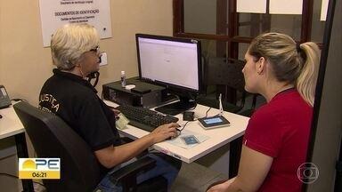 Sistema biométrico vai ser usado em 156 municípios pernambucanos na eleição de 2020 - TRE-PE está fazendo cadastramento em 45 municípios.