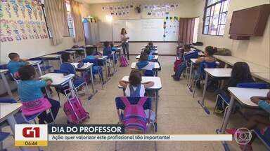 G1 no BDMG: Ação em vídeo mostra valor da carreira de professor - Faça homenagem a professor ou conte experiência de educador e envie nas redes sociais. Iniciativa é da Fundação Roberto Marinho.