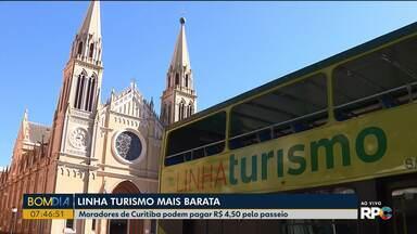 Moradores de Curitiba vão pagar mais barato na Linha Turismo - A tarifa é de R$ 4,50 para os moradores da capital.