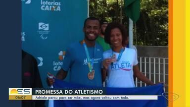 Papo de atleta: promessa do atletismo fala da prática do esporte - Ela parou para ser mãe, mas agora voltou com tudo.