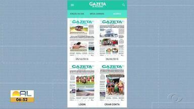Jornal Gazeta de Alagoas volta a ser diário e em formato digital - Repórter Carolina Sanches tem os detalhes.