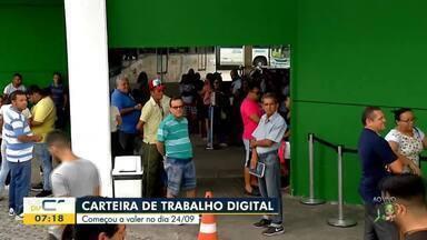 O Bom Dia Ceará explica como tirar a Carteira de Trabalho digital - Saiba mais em g1.com.br/ce