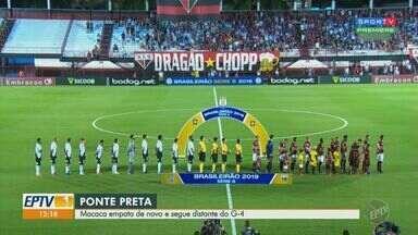 Ponte Preta empata e novo e perde chance de se aproximar do G4 - Placar não saiu do zero na partida contra o Atlético-GO fora de casa.