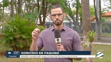 Atirador encapuzado mata homem de 26 anos com 4 tiros em Itaquiraí - Atirador encapuzado mata homem de 26 anos com 4 tiros em Itaquiraí