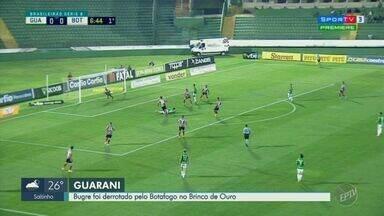 Guarani perde para o Botafogo no Brinco de Ouro e quebra boa sequência dentro de casa - Desfalques no meio campo prejudicaram a equipe. Placar final foi de 2x0.