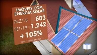 Aumenta procura por painéis de energia solar em São José - É uma alternativa para reduzir os gastos com energia.