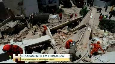 Novo vídeo deve ajudar a entender o que aconteceu no prédio que desabou em Fortaleza - 2 pessoas morreram, 9 foram resgatadas com vida e 9 estão desaparecidas após desabamento.