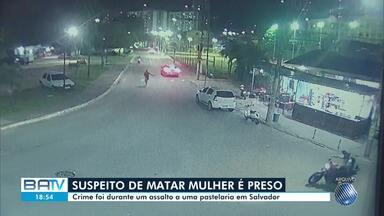 Suspeito de matar mulher em assalto depois que namorado reagiu é preso nesta quarta - O caso aconteceu no bairro da Federação em Salvador, na quinta-feira (10).