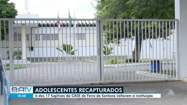 Seis dos 17 adolescentes infratores que fugiram da CASE já foram recapturados - A fuga aconteceu na segunda-feira (14), em Feira de Santana.