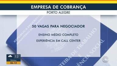 Confira vaga de emprego em empresa de cobrança, em Porto Alegre - Assista ao vídeo.
