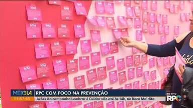Outubro Rosa: RPC com foco na prevenção - Ações da campanha Lembrar é Cuidar vão até às 14 horas, na Boca Maldita.
