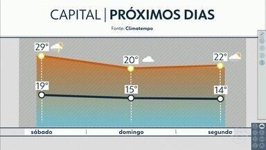 Sexta-feira poderá ser um dos dias mais quentes da semana - Domingo volta a esfriar. Veja os detalhes da previsão do tempo.