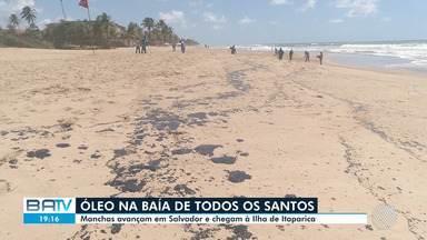 Sobe para nove o número de municípios afetados pelas machas de óleo na Bahia - A substância chegou na Ilha de Itaparica nesta quinta-feira (17).