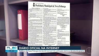 Nova Friburgo cria decreto que permite publicação eletrônica de atos do governo - Agora, moradores vão poder fiscalizar ações da Prefeitura pela internet.