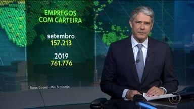Economia brasileira cria 157.213 empregos com carteira assinada, em setembro - No acumulado do ano, são 761.776 vagas formais no mercado de trabalho.