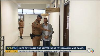 Justiça determina que Edison Brittes pague pensão à filha de Daniel - Decisão é liminar e estabelece o pagamento de R$ 5 mil por mês.