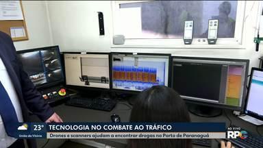 Tecnologia avançada pra conter o tráfico de drogas - Drones e scanners ajudam a encontrar drogas no Porto de Paranaguá