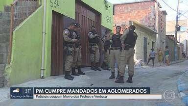 Polícia faz operação em aglomerados - Policiais ocupam Morro das Pedras e Ventosa, em BH