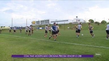 Criciúma recebe o CRB no Heriberto Hülse; Bruno Grassi sofre lesão - Criciúma recebe o CRB no Heriberto Hülse; Bruno Grassi sofre lesão