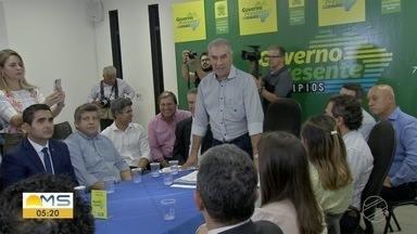 Prefeito de Campo Grande pede mais recursos do Fundersul - Marquinhos Trad se reuniu com o governador Reinaldo Azambuja e pediu mais dinheiro para obras.