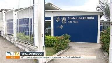 Clínica da Família em Realengo está sem médicos - Há um ano, pacientes tentam marcar consulta na Clínica da Família Nildo Aguiar.