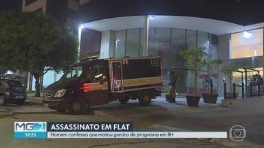 Homem confessa assassinato de garota de programa - Mulher foi encontrada morta dentro do banheiro de um flat, no bairro Estoril. Ela estava nua e com um fio enrolado no pescoço. Homem contou à polícia que tinha vontade de matar alguém desde que o pai morreu, há 3 anos.