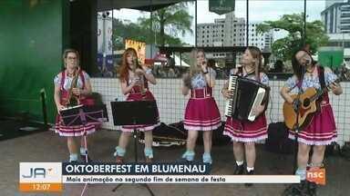 Oktoberfest chega ao segundo final de semana em Blumenau; confira atrações - Oktoberfest chega ao segundo final de semana em Blumenau; confira atrações