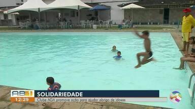 Clube AGA realiza ação social em prol do abrigo de idosas São Vicente de Paulo - Abrigo fica em Garanhuns.