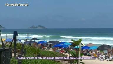 Depois da partida deste sábado (19), Grêmio vai direto para o Rio de Janeiro - No Rio de Janeiro, só se fala na partida de quarta-feira (23).