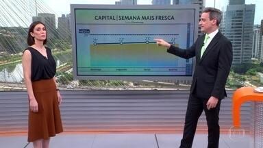 Grande SP e litoral têm risco de chuva forte à tarde - A partir de amanhã (20), temperaturas ficam mais baixas na capital