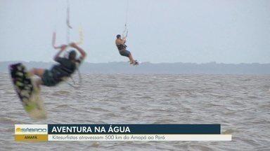 Kitesurfistas atravessam 500 km do Amapá ao Pará - Eles velejaram do oceano Atlântico ao rio Amazonas.
