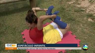 Espetáculo infantil é realizado em Aracaju - Espetáculo infantil é realizado em Aracaju.
