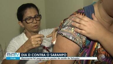 Dia D de campanha contra sarampo acontece neste sábado, mas movimento é pequeno nos postos - O público alvo eram crianças entre seis meses e menores de cinco anos de idade.