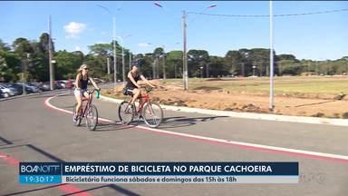 Bicicletas são emprestadas de graça para quem quer pedalar em parque de Araucária - Bicicletário funciona sábados e domingos das 15h às 18h. Em novembro horário deve ser expandido.