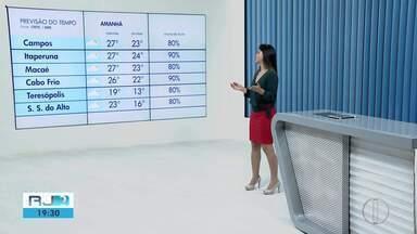 Confira a previsão do tempo para as cidades do interior do Rio - Veja como fica as temperaturas para o fim de semana.